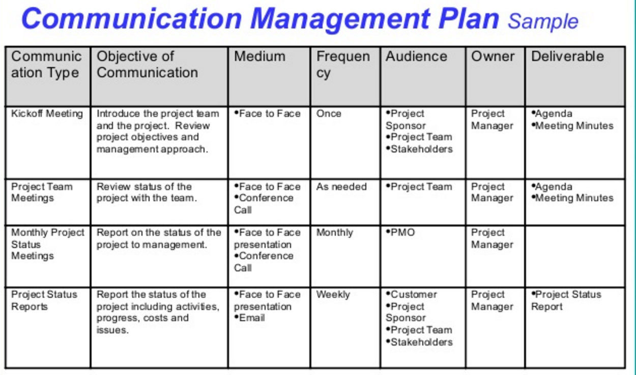 Top Result 60 Elegant Project Communication Matrix Template ...